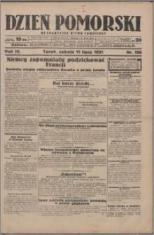 Dzień Pomorski 1931.07.11, R. 3 nr 156