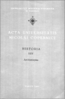 Acta Universitatis Nicolai Copernici. Nauki Humanistyczno-Społeczne. Historia, z. 25 (236), 1991