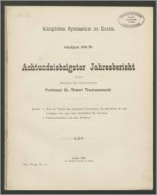 Königliches Gymnasium zu Konitz. Schuljahr 1899/99. Achtundsiebzigster Jahresbericht