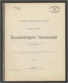 Königliches Gymnasium zu Konitz. Schuljahr 1901/1902. Einundachtzigster Jahresbericht