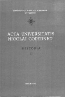 Acta Universitatis Nicolai Copernici. Nauki Humanistyczno-Społeczne. Historia, z. 11 (74), 1977