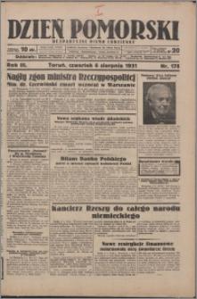 Dzień Pomorski 1931.08.06, R. 3 nr 178