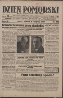 Dzień Pomorski 1931.08.08, R. 3 nr 180
