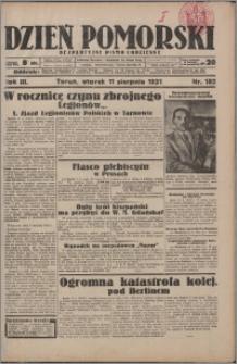 Dzień Pomorski 1931.08.11, R. 3 nr 182
