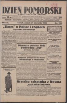Dzień Pomorski 1931.08.21, R. 3 nr 190