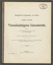 Königliches Gymnasium zu Konitz. Schuljahr 1904/1905. Vierundachtzigster Jahresbericht
