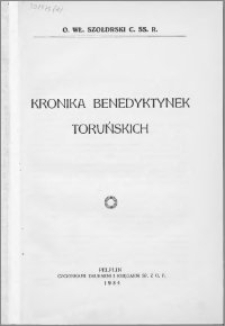 Kronika benedyktynek toruńskich