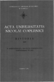 Acta Universitatis Nicolai Copernici. Nauki Humanistyczno-Społeczne. Historia, z. 14 (101), 1978