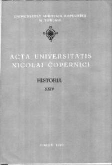 Acta Universitatis Nicolai Copernici. Nauki Humanistyczno-Społeczne. Historia, z. 24 (204), 1990