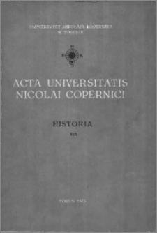 Acta Universitatis Nicolai Copernici. Nauki Humanistyczno-Społeczne. Historia, z. 8 (54), 1973