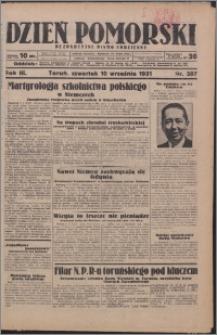 Dzień Pomorski 1931.09.10, R. 3 nr 207