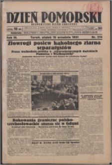 Dzień Pomorski 1931.09.18, R. 3 nr 214
