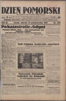Dzień Pomorski 1931.10.13, R. 3 nr 235