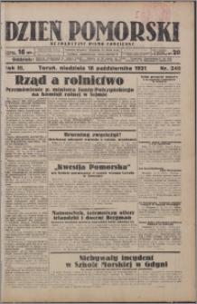Dzień Pomorski 1931.10.18, R. 3 nr 240