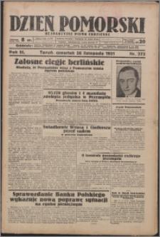 Dzień Pomorski 1931.11.26, R. 3 nr 273