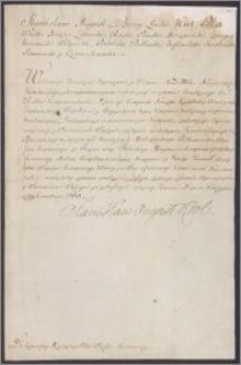 Stanisław August Poniatowski król polski do Komisji Wojskowej Koronnej