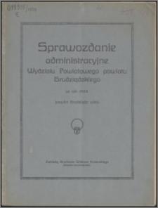 Sprawozdanie Administracyjne Wydziału Powiatowego Powiatu Grudziądzkiego za rok 1924