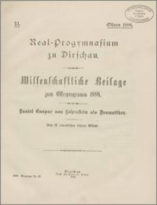 Daniel Caspar von Lohenstein als Dramatiker