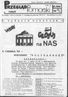 """Przegląd Pomorski : pismo członków i sympatyków NSZZ """"Solidarność"""" 1989 nr 10/31"""
