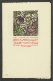 Życzenia bożonarodzeniowe i noworoczne (na 1957 rok) od Alfreda Holińskiego