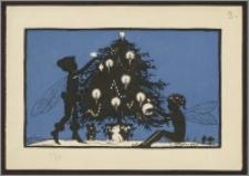 Kartka z życzeniami bożonarodzeniowymi i noworocznymi od Aleksandry, Wandy i Jadwigi Piłsudskich, wraz z podpisami