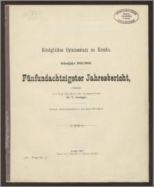 Königliches Gymnasium zu Konitz. Schuljahr 1905/1906. Fünfundachtzigster Jahresbericht