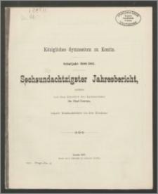 Königliches Gymnasium zu Konitz. Schuljahr 1906/1907. Sechsundachtzigster Jahresbericht