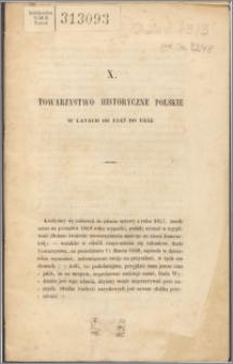 Towarzystwo Historyczne Polskie w latach od 1847 do 1852