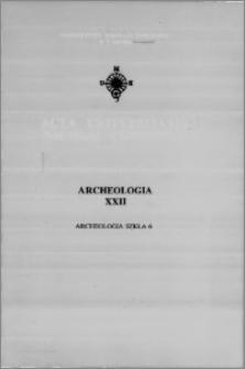 Acta Universitatis Nicolai Copernici. Nauki Humanistyczno-Społeczne. Archeologia, z. 22 (275), 1995