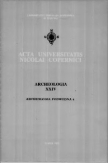 Acta Universitatis Nicolai Copernici. Nauki Humanistyczno-Społeczne. Archeologia, z. 24 (287), 1995
