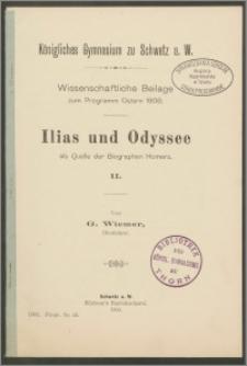 Ilias und Odyssee als Quelle der Biographen Homers