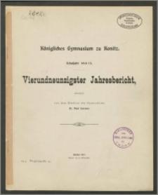 Königliches Gymnasium zu Konitz. Schuljahr 1914/1915. Vierundneunzigster Jahresbericht