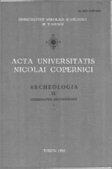 Acta Universitatis Nicolai Copernici. Nauki Humanistyczno-Społeczne. Archeologia, z. 9 (142), 1983