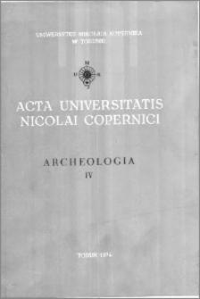 Acta Universitatis Nicolai Copernici. Nauki Humanistyczno-Społeczne. Archeologia, z. 4 (60), 1974