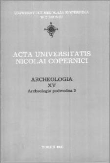 Acta Universitatis Nicolai Copernici. Nauki Humanistyczno-Społeczne. Archeologia, z. 15 (199), 1991