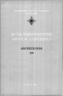 Acta Universitatis Nicolai Copernici. Nauki Humanistyczno-Społeczne. Archeologia
