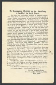 Der Hamkenssche Webstuhl auf der Ausstellung in Sanddorf im Kreise Berent