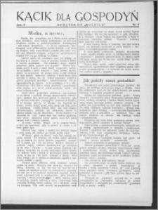 Kącik dla Gospodyń 1931, R. 2, nr 4