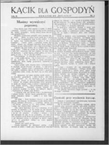 Kącik dla Gospodyń 1931, R. 2, nr 6