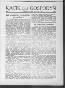 Kącik dla Gospodyń 1931, R. 2, nr 8