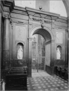 Częstochowa. Klasztor oo. Paulinów na Jasnej Górze. Wnętrze Kaplicy Denhoffów. Widok ściany północnej