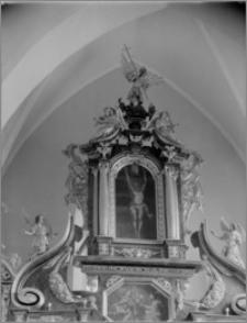 Beszowa [Kościół parafialny pw. św. Apostołów Piotra i Pawła - ołtarz główny - zwieńczenie]