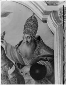 Błądzim-Rykowisko. Kościół pw. Świętego Rocha. Ołtarz główny z obrazem Ukoronowanie Najświętszej Maryi Panny - fragment