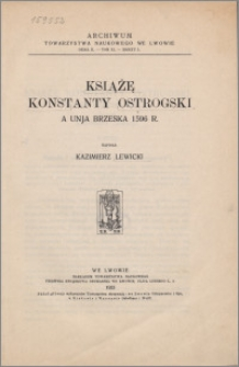 Książę Konstanty Ostrogski a Unja Brzeska 1596 r