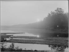 Kanał Augustowski [Śluza Paniewo. Jezioro powyżej śluzy (4 godz. rano)]