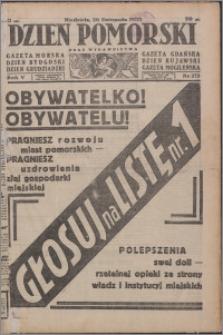 Dzień Pomorski 1933.11.26, R. 5 nr 272