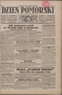 Dzień Pomorski 1933.12.22, R. 5 nr 293