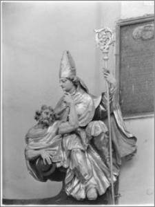 Dobre Miasto [Kościół parafialny pw. Najświętszego Zbawiciela i Wszystkich Świętych - fragment ołtarza głównego]