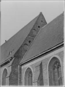 Bydgoszcz. Kościół Garnizonowy pw. Matki Bożej Królowej Pokoju. Szczyt nawy głównej od strony wschodniej