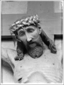 Chełmża. Kościół Parafialny Św. Trójcy [ob. Konkatedra Św. Trójcy]. Wnętrze-detal krucyfiksu